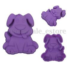 3D Lovely Cartoon Dog Cake Pan Silicone Baking Mold Emboss Cutters Sugar Craft