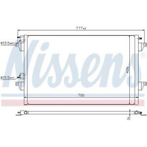 1 Condenseur, climatisation NISSENS 940153 convient à RENAULT