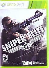 Sniper Elite V2 (Microsoft Xbox 360, 2012) Complete & Excellent Disk + Manual