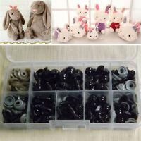 100Pcs Black Plastic Safety Eyes Toy for Teddy Bear Doll Animal Making Craft DIY