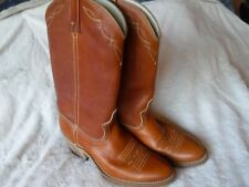 Womens Cowgirl Boots Dingo Size 8 D Brown Leather Boots Very Good Shape Western