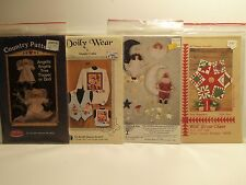 Lot of 4 Christmas Craft Patterns Assorted