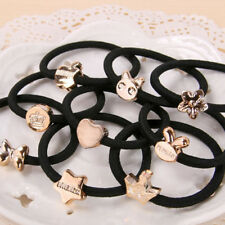 10pcs Lot Black Girl Elastic Hair Accessories Ties Band Rope Ponytail Bracelets