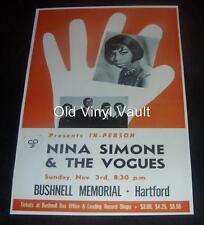 Nina Simone Repro Concert Poster Bushnell Memorial Hartford, Connecticut 1968