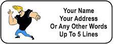 30 Johnny Bravo Personalized Address Labels