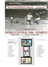 1966 ENGLAND WORLD CUP WINNERS SHEET SIGNED BY SIR ALF RAMSEY