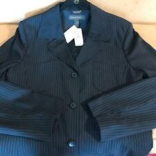 NWT Banana Republic Women's Blazer Midnight Blue Pinstripe Jacket $248 Size 14