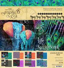 "Graphic 45 - Kaleidoscope 8x8"" Scrapbooking Paper Pad 24 sheets Africa Elephant"