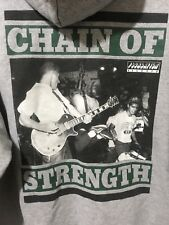 Chain Of Strength True Till Death Hoodie Shirt 90s Straight Edge Rock XL