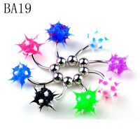 30/50/110pcs Belly Button Navel Ring Bars Body Piercing Jewellery Rings Makeup