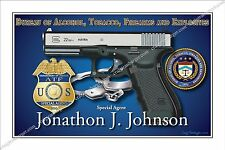 Police,US,ATF,Alcohol,Tobacco,Firearms,Enforcement,DOJ,DHS,Retirement,badge,gift