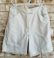 Antigua Womens SZ 6 Beige Khaki Shorts Desert Dry Tan Golf