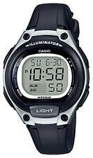 Casio Standard Ladies Wrist Watch LW-203-1AJF Black 34.6mm Quartz LED New O