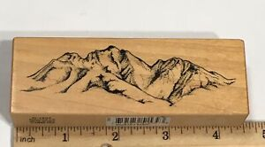 PSX Mountain Range Scenery Nature G1537 Rubber Stamp