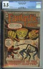 Fantastic Four #8 CGC 3.5 1st App Puppet Master Alicia Masters