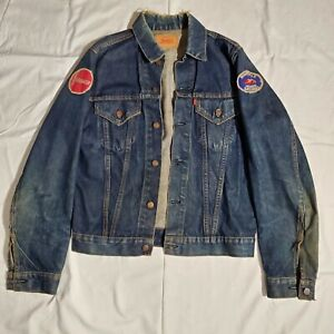 Vintage Levi's Strauss Type III Jean Jacket Blue Distressed Pre-1971 Small USA