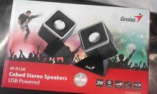 Genius SP-D120 Cube Design 2 W USB 2 Channel Speaker - Black