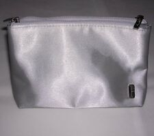 NEW w/ SCUFF: Clinique Makeup Clutch: silver color, clear double pockets inside.