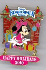 Wdw Disney Boardwalk Resort Hotel Minnie Mouse Presents Holiday Fireplace Pin
