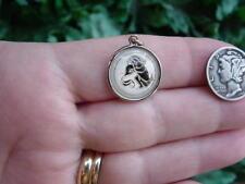 Vintage Hoffman Sterling silver enamel charm - zodiac sign - AQUARIUS
