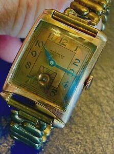 Vintage 1941  WALTHAM Premier  17J Gents Wrist Watch  Rose Gold Filled SERVICED