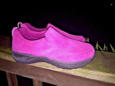 L L BEAN New Without Box Clogs Suede Leather Fuchsia Pink Shoes Girls Shoes Sz 2