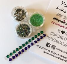 Green Jewel Glitter Kit, Festival Glitter