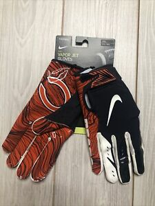 New Mens Nike Chicago Bears Vapor Jet Football Gloves Size 3XL Orange Navy