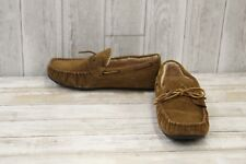 Minnetonka Tyler Trapper Moccasin Slippers - Men's Size 10 - Brown