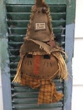 PRIMITIVE ~~ SMALL SCARECROW HEAD HANG OR TUCK