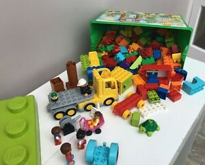 Large volume of Duplo Lego including figures and lorry  - Thames Hospice