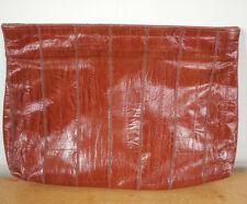 Vintage Genuine Brown Eel Skin Leather Convertible Clutch Shoulder Dress Purse