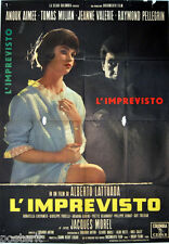 manifesto 2F originale L'IMPREVISTO Thomas Milian Jeanne Valerie 1961
