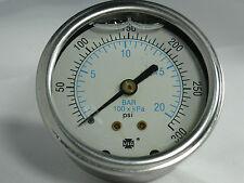 "Pressure Gauge 168853 P1559LG 300 PSI/KPA/BAR 1/4"" NPT CBM"