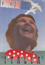 7105) MARINA, SOCIETA' DI NAVIGAZIONE ITALIA, CROCIERE 1937. ILL. CARBONI. Vg.