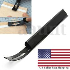 Black Safety Skiver Beveler Thinning Leather Craft Blade DIY Folds Seams Tool US