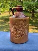 Vintage Prim COOKIE JUG Milk Container Little Brown Jug Cookie Jar 11/7 ❤️ sj17j
