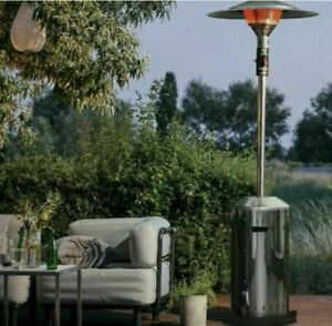 Elegance Polished Stainless Steel Garden Patio Gas Heater Enders