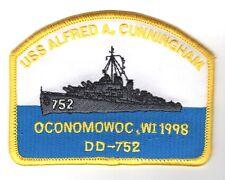 "USN Navy Ship Patch:  USS Cunningham DD 752 - 4"""