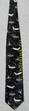 NASA SPACE SHUTTLE REPEAT ASTRONOMY SCIENCE Ralph Marlin Silk Necktie NEW! RARE!