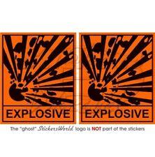 "EXPLOSIVE Safety Warning Sign Explosion Danger Vinyl Stickers-Decals 75mm(3"") x2"