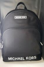 Michael Kors Sport Backpack Large Size Black/White Logo Nylon Brand New