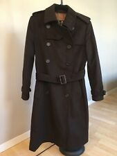 Barbour Chocolat Valerie Trench Wool Coat Size US 8/UK 12 Retail $479 60% OFF