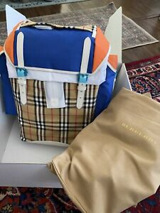 Burberry Ranger Backpack Vintage Check Nylon and Leather New w/tags Sz L