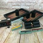 antique game collection checkers parcheesi bakelite chips