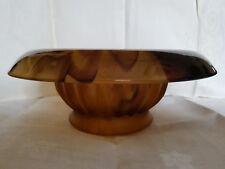 Davidson brown cloud glass bowl