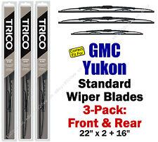 Wiper Blades 3pk Front Rear Standard fit 2000-2006 GMC Yukon 30221x2/160