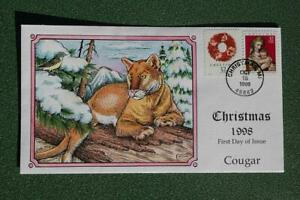 1998 Christmas 32c Stamps FDC Handpainted Collins#U2901 Sc#3244,3247 15045
