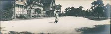 USA, Hotel Del Monte (Monterey, California) Vintage silver print. Panoramic View