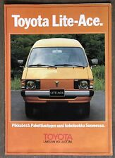 1980 Toyota Lite-Ace original Finnish sales brochure